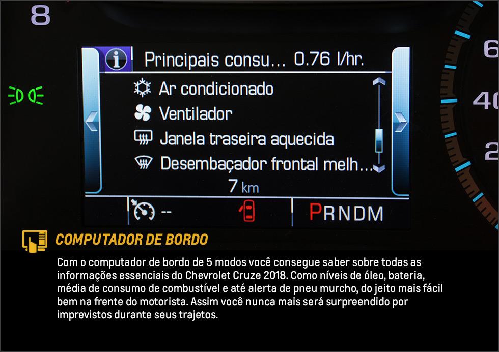 Cruze - Computador de Bordo - Dig Chevrolet
